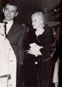Marilyn at a preview of The Apartment with Yves Montand, 1960