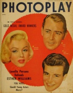 Wagner featured on Photoplay cover with MM, 1954