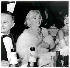 Marilyn and mystery woman, without glasses
