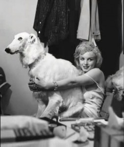 Marilyn relaxing during her 'Fabled Enchantresses' photo shoot with Richard Avedon, 1958