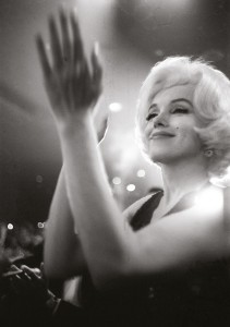 Marilyn at the Golden Globes, 1962. Photo by Julian Wasser