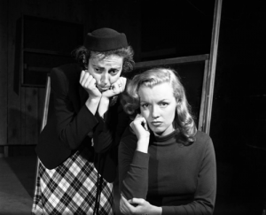 In acting class with Natasha, 1949 (photo by J.R. Eyerman)