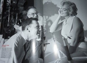 With Tom Ewell on the set of 'The Seven Year Itch'