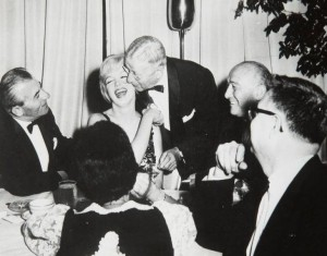 At an American Friends of Hebrew University dinner, 1959