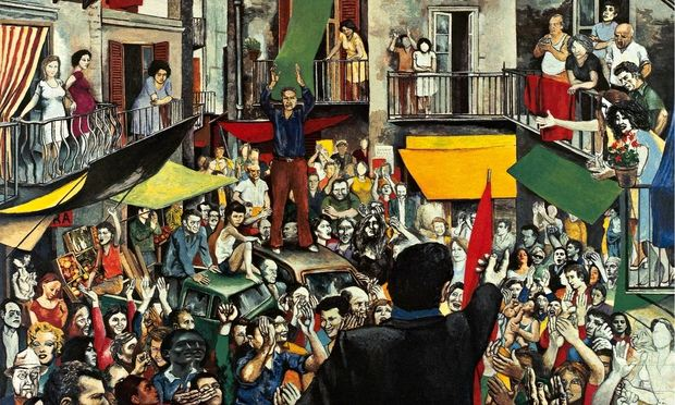 Renato Guttuso, 'Neighbourhood Rally' (1975)