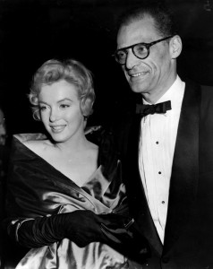 At the UK premiere of 'A View From the Bridge', 1956