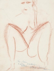 Nude drawing by Marilyn