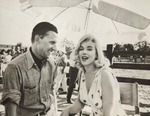 Marilyn with photographer Manfred 'Linus' Kreiner, 1960