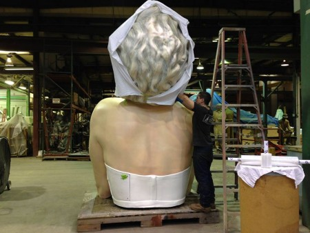 Seward Johnson's giant sculpture, 'Forever Marilyn', arrives at the Bendigo Art Gallery, Australia