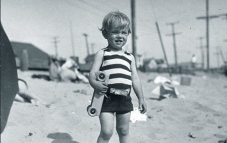 A young Norma Jeane on the beach (exact location unknown)