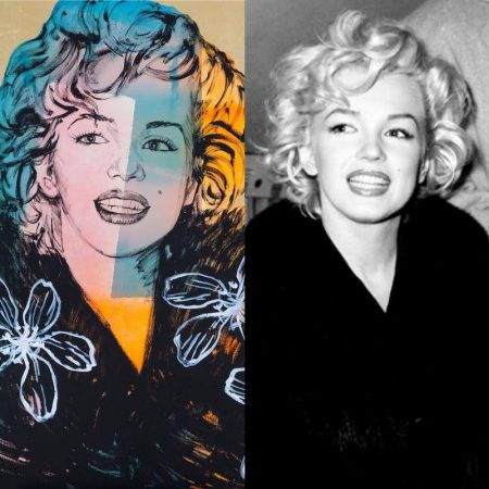 Marilyn by David Bromley, after Kashio Aoki's 1952 photo