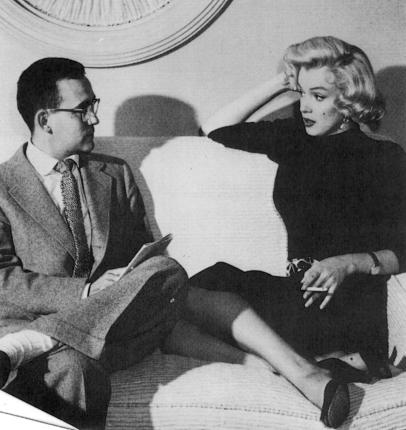 Marilyn with Vernon Scott in 1953
