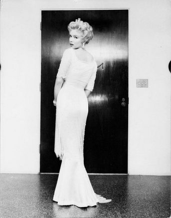 Marilyn in costume for 'The Prince and the Showgirl'