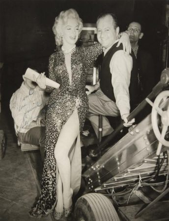 Marilyn on the set of 'Gentlemen Prefer Blondes'.