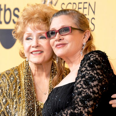 With daughter Carrie Fisher in 2015