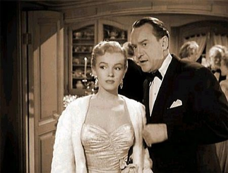 Sanders with a young Marilyn in 'All About Eve' (1950)