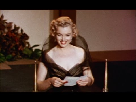 Marilyn presents an Oscar for 'All About Eve', 1951