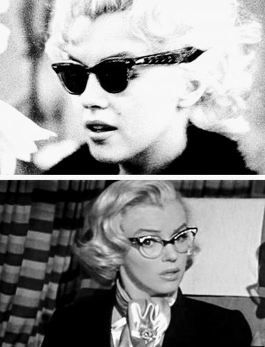 glasses with Marilyn monroe